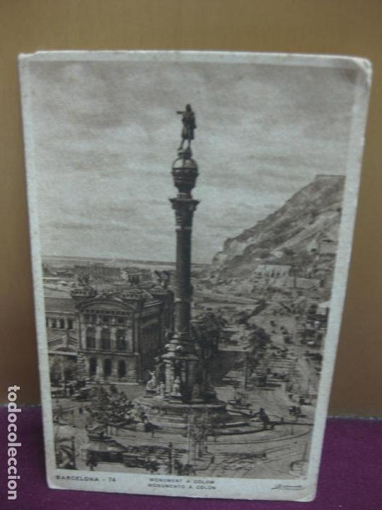 POSTAL BARCELONA - 74. MONUMENT A COLOM. MONUMENTO A COLON. ZERKOWITZ (Postales - España - Cataluña Antigua (hasta 1939))