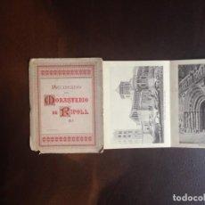 Postales: DESPLEGABLE DE 12 POSTALES 'RECUERDO DEL MONASTERIO DE RIPOLL'. FOTOTIPIA HENRICH. Lote 133854222