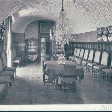 Postales: POSTAL PALACIO DE PERELADA 6 - COMEDOR - FOTOS MELI - FIGUERAS. Lote 134170990