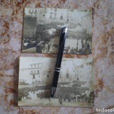 Postales: 2 POSTALES CON MILITARES DE 1920. DESFILE EN GERONA. ESPECTACULARES. ANTONIO MARCO. OCASION UNICA. Lote 134271366