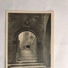Postales: POBLET (TARRAGONA) POSTAL NO.11, PUERTA DE ENTRADA PALACIO REY MARTÍN EL HUMANO. (H.1950?). Lote 134349063