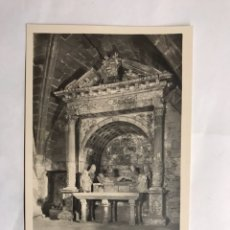 Postales: POBLET (TARRAGONA) POSTAL NO.41. ALTAR DEL SANTO SEPULCRO. EDITA: RICART (H.1950?). Lote 134349071