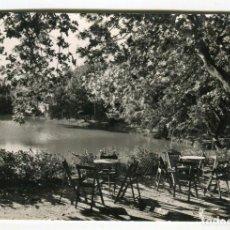Postales: BORJAS BLANCAS -BORGES BLANQUES- (TARRAGONA) PARQUE TERRALL VISTA PARCIAL PUIGDENGOLAS ESCRITA 1963. Lote 134549378