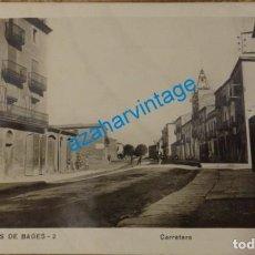 Postales: SANT FRUITOS DE BAGES, BARCELONA, CARRETERA, TOP RARA. Lote 134981470