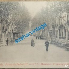 Postales: MANRESA - 29 - PASEO DE PEDRO III - THOMAS. Lote 135140658