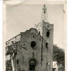 Postales: BARCELONA ARENYS DE MUNT PLAZA IGLESIA POSTAL FOTOGRÁFICA, ESCRITA. Lote 135250918