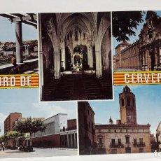 Postales: POSTAL CERVERA DIVERSOS ASPECTOS ESCUDO DE ORO, SIN USO.. Lote 135284086