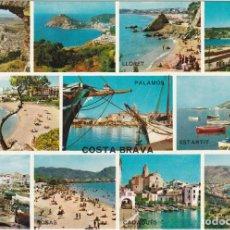Postales: COSTA BRAVA, ROSA, CALONGE, PALAMOS, LLORET, PROVINCIA GERONA. Lote 135397742
