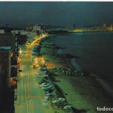 Postales: COSTA BRAVA, SAN ANTONIO DE CALONGE, VISTA NOCTURNA AL FONDO PALAMOS, PROVINCIA GERONA. Lote 135398614