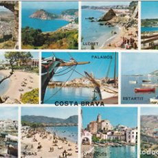 Postales: COSTA BRAVA, PALAMOS, ESCALA, PLAYA ARO, LLORET, PROVINCIA GERONA. Lote 135398882