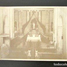 Postales: POSTAL FOTOGRÁFICA MASROIG, TARRAGONA. PROCESIÓN. INTERIOR DE LA IGLESIA. . Lote 135640903