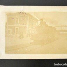 Postales: POSTAL FOTOGRÁFICA BORJAS DEL CAMPO. TARRAGONA. ESTACIÓN DE TREN. CIRCULADA. AÑO 1910. . Lote 135641599