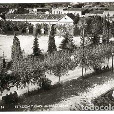 Postales: BARCELONA SABADELL ESTACION ( FERROCARRILES DE CATALUÑA )Y PLAZA ANSELMO CLAVE. ZERKOWITZ. Lote 135703827