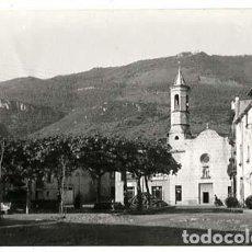 Postales: GIRONA SAN FELIU DE PALLAROLS PLAZA DEL CAUDILLO ED. L. SERRAT. POSTAL FOTOGRÁFICA, SIN CIRCULAR. Lote 135706523