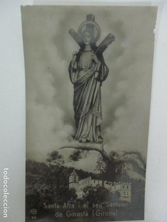 POSTAL - SANTA AFRA I EL SEU SANTUARI DE GINESTÀ (GIRONA) (Postales - España - Cataluña Antigua (hasta 1939))
