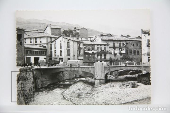RESERVADA - POSTAL FOTOGRÁFICA - POBLA DE LILLET, VISTA PARCIAL - FOTO CINE LUIGI - SIN CIRCULAR (Postales - España - Cataluña Moderna (desde 1940))
