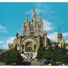 Postales: BARCELONA - TIBIDABO 2073 BASILICA NAC. EXP. DEL SAGRADO CORAZÓN DE JESÚS - A. ZERKOWITZ. Lote 136197270