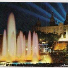 Postales: BARCELONA - PARQUE DE MONTJUIC :PALACIO NACIONAL DEL ARTE Y FUENTE MONUMENTAL - Nº2146 A. ZERKOWITZ. Lote 136197630