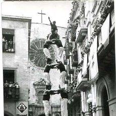 Postales: TARRAGONA VALLS XIQUETS DE VALLS EN EL ESBELTO DOS DE SET. ED. FOTO A. GURI Nº 2. SIN CIRCULAR. Lote 136217462