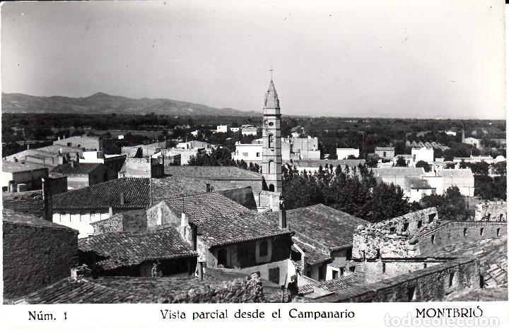 POSTAL FOTOGRAFICA DE MONTBRIÓ - VISTA PARCIAL DESDE EL CAMPANARIO NUM. 1 - CIRCULADA (Postales - España - Cataluña Moderna (desde 1940))