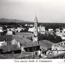 Postales: POSTAL FOTOGRAFICA DE MONTBRIÓ - VISTA PARCIAL DESDE EL CAMPANARIO NUM. 1 - CIRCULADA. Lote 136252766