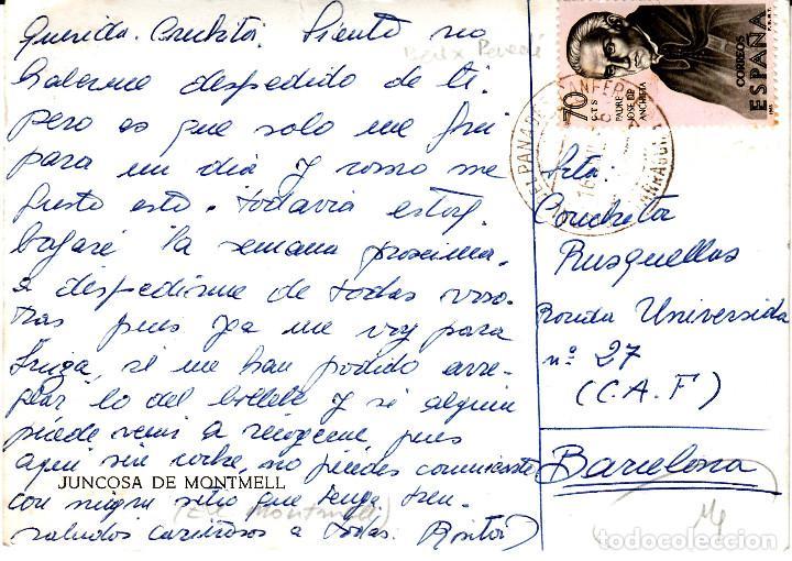 Postales: POSTAL FOTOGRAFICA JUNCOSA DE MONTMELL CIRCULADA - Foto 2 - 136253386