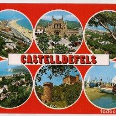Postales: CASTELLDEFELS - BARCELONA - DIVERSOS ASPECTOS - Nº43 ESCUDO DE ORO - SIN CIRCULAR. Lote 136356810