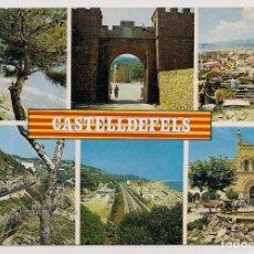 Postales: CASTELLDEFELS - BARCELONA - DIVERSOS ASPECTOS - Nº17 ESCUDO DE ORO - ESCRITA. Lote 136361018