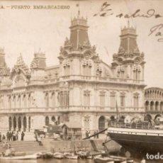 Postales: BARCELONA. LB 10 PUERTO: EMBARCADERO. Lote 136374958