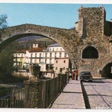 Postales: CAMPRODON - GIRONA - PUENTE ROMÁNICO SOBRE EL RÍO TER - COCHE ANTIGUO - Nº118-1 CARRERA DE LA RED. Lote 136640334