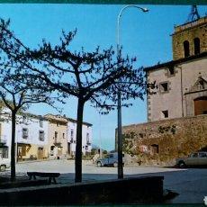 Postales: POSTAL SAN ESTEBAN DE BAS-PLAZA DE LA IGLESIA- GIRONA. Lote 136643144