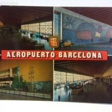 Postales: BJS. BONITA POSTAL. BARCELONA. AEROPUERTO. ESCUDO DE ORO, SIN USAR. Lote 137273142