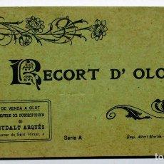 Postales: OLOT (GIRONA-GERONA), CUADERNO.CARPETILLA CON 13 POSTALES ANTIGUAS. POSTALES-0037. Lote 137296290