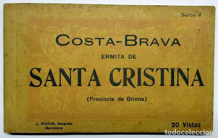 COSTA BRAVA. ERMITA DE SANTA CRISTINA (GIRONA), CARPETILLA CON 18 POSTALES ANTIGUAS. POSTALES-0040 (Postales - España - Cataluña Moderna (desde 1940))