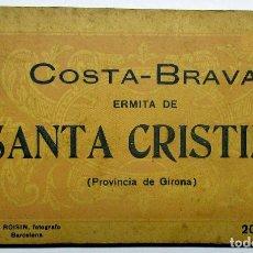 Postales: COSTA BRAVA. ERMITA DE SANTA CRISTINA (GIRONA), CARPETILLA CON 18 POSTALES ANTIGUAS. POSTALES-0040. Lote 137494470