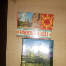 Postales: 2 LIBRITOS DE POSTALES DE BARCELONA EN ACORDEON DE A.ZERKOWITZ DE 1977 Y OTRO DEL PARQUE GUELL. Lote 137705634