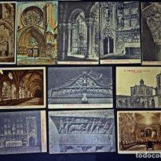 Postales: COLECCIÓN DE 11 ANTIGUAS POSTALES DE LA CATEDRAL DE TARRAGONA, SIN CIRCULAR, VER FOTOS Y COMENTARIOS. Lote 138990926