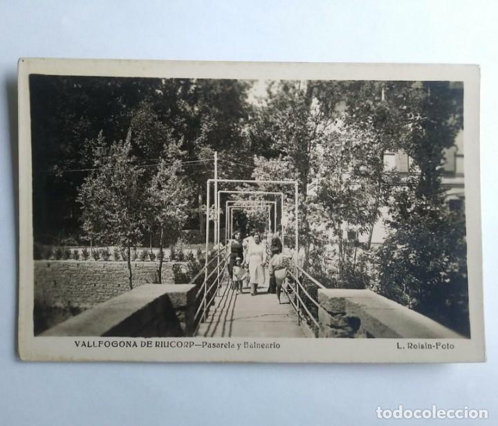 VALLFOGONA DE RIUCORP PASARELA Y BALNEARIO RIUCORB (Postales - España - Cataluña Antigua (hasta 1939))