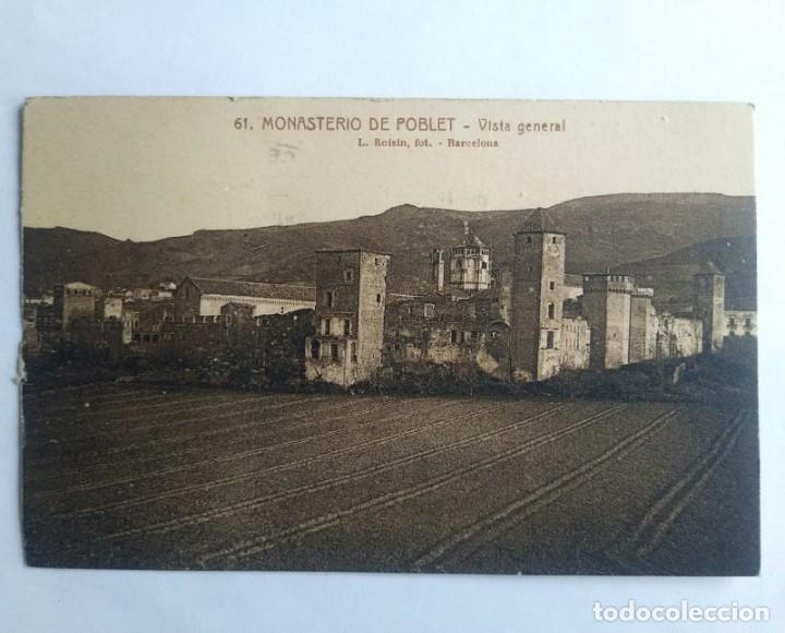 1922 MONASTERIO DE POBLET CIRCULADA VER FOTOS (Postales - España - Cataluña Antigua (hasta 1939))