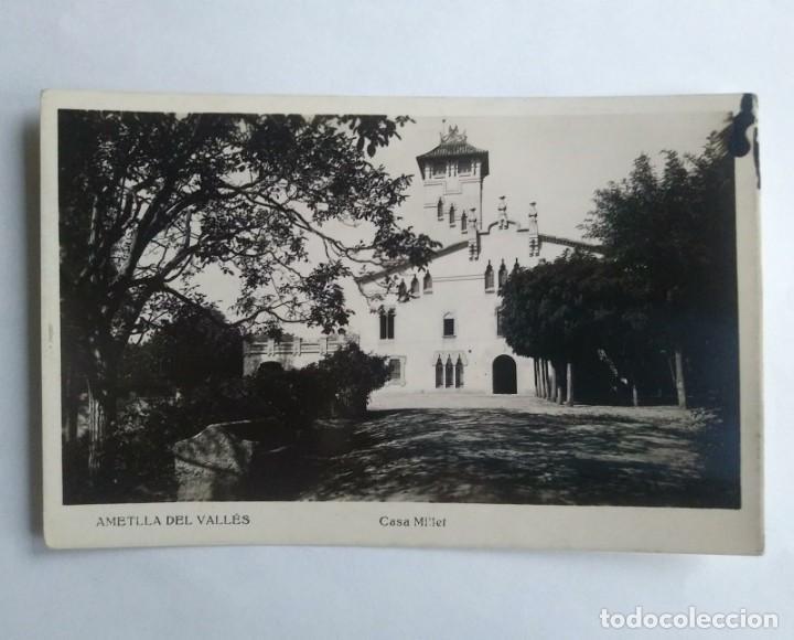 AMETLLA DEL VALLES CASA MILLET (Postales - España - Cataluña Antigua (hasta 1939))