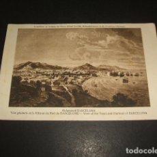 Postales: BARCELONA VISTA DE LA CIUDAD Y EL PUERTO RARA EDICION ALEMANA. Lote 139235670