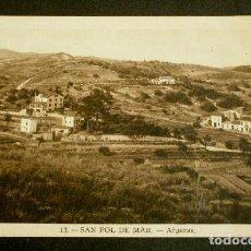 Postales: SAN POL DE MAR (BARCELONA) Nº 13 AFUERAS - ED. ROISIN - POSTAL CIRCULADA - MARESME CATALUNYA. Lote 139545870