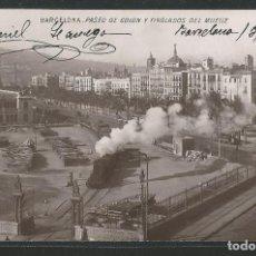 Postales: BARCELONA - PASEO DE COLÓN Y TINGLADOS DEL MUELLE - FERROCARRIL - B Y M - P27789. Lote 139811354