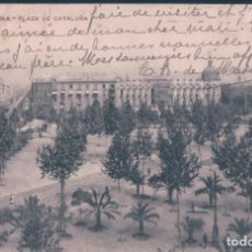 Postales: POSTAL BARCELONA - PLAZA DE CATALUÑA - MISSE BARNA - CIRCULADA SIN SELLO. Lote 139881242