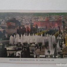 Postales: EXPOSICION INTERNACIONAL PLAZA DE ESPAÑA 1929, BARCELONA. Lote 139944298