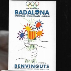 Postales: POSTAL * BADALONA * JJOO BARCELONA 92 -ILUSTRACIÓN PICASSO 1992. Lote 140815372
