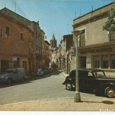 Postales: POSTAL CASSA DE LA SELVA (GIRONA) - PLAZA GENERALISIMO Y CALLE JOSÉ ANTONIO. Lote 140329614