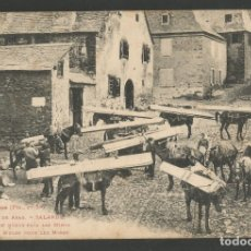 Postales: VALL D' ARAN - SALARDU - CARGAMENTO DE MULAS PARA LAS MINAS - 396 LF -POSTAL ANTIGA-(54.327). Lote 140427202