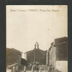 Postales: VERDU - PLAZA SAN MIGUEL - FOTOGRAFICA - VIUDA DE RAMON CASAS -POSTAL ANTIGA-(54.343). Lote 140429074