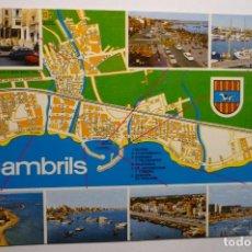 Postales: POSTAL CAMBRILS MAPA Y VISTAS. Lote 140489826